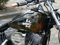 Airbrush motor tank Harley Davidson.