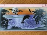 Dolfijn airbrushwerk op nintendo DS