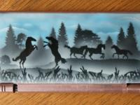 Paarden airbrushwerk op nintendo DS