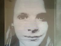 Foto op A3 formaat glasplaat gezandstraald