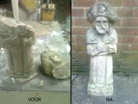 Heiligenbeeld restauratie steen