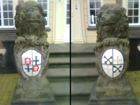 Restauratie wapens kasteel Ampsen.Lochem.