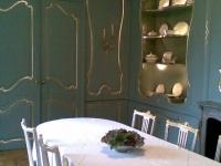 16e eeuwse eetkamer geschilderd.Schilders Lochem,
