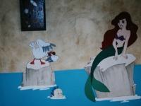 Ariel op kinderkamer beschilderd